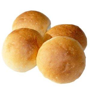 画像1: ハンバーガー用のパン (4個入り)【卵・乳アレルギー対応】 (1)