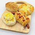 画像1: 惣菜パンセット(ウインナーパン・焼きカレーパン・ハムマヨコーン・タルタルコーン)【卵・乳アレルギー対応】 (1)