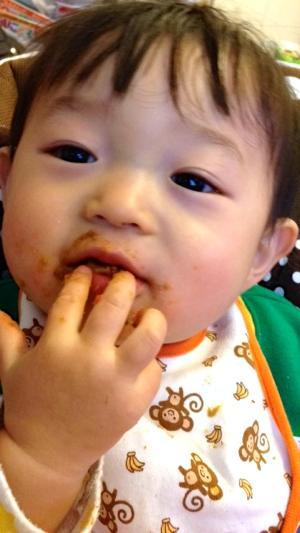 一歳二ヶ月の息子、ペロリと食べてしまいました…