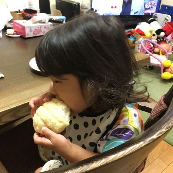 ずっと「メロンパンが食べたい!」と言っていた娘の夢を叶えることが出来ました