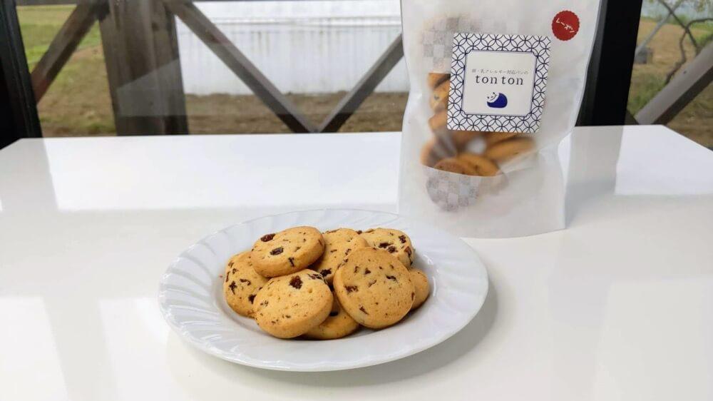 アレルギー対応国産小麦100%クッキー第三段!レーズンクッキー