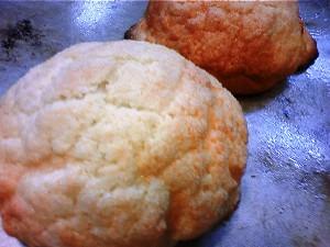 試作で作ったメープルメロンパン