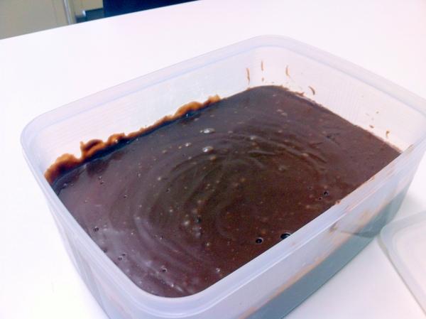 豆乳とこのチョコレートで作ったチョコクリーム。
