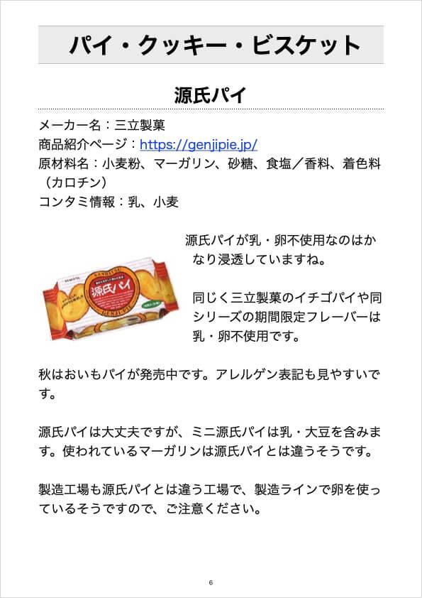 パイ・クッキー・ビスケット-源氏パイ