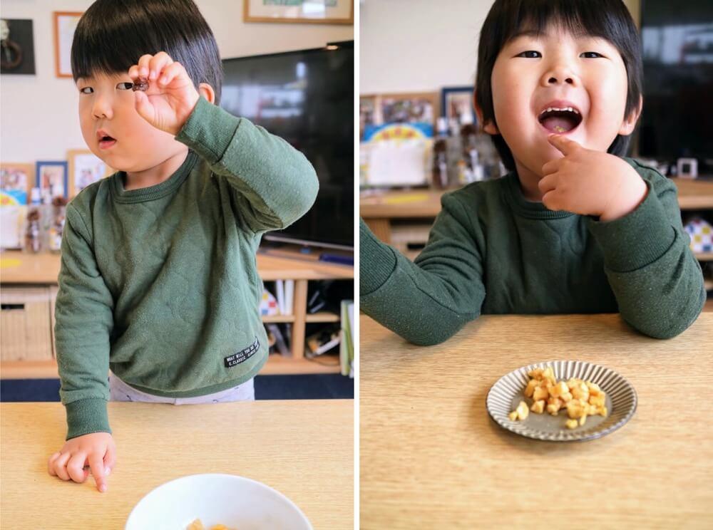 スタッフのお子さんに食べてもらいました