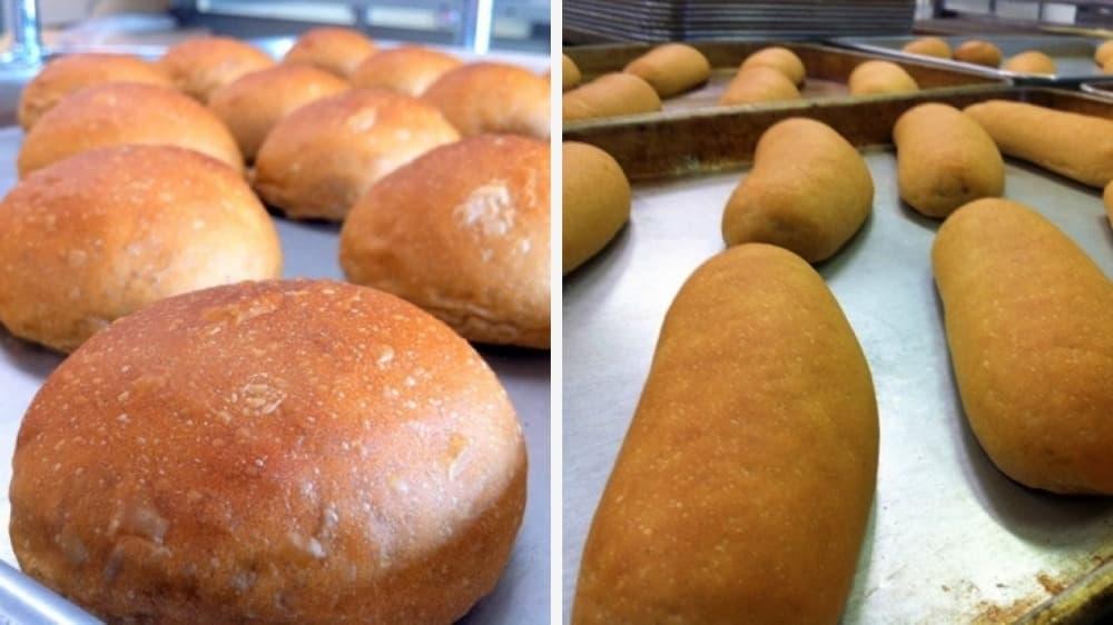 沖縄黒糖ロールver.5 (8個入り)・沖縄黒糖コッペパン (4個入り)-卵・乳アレルギー対応パンのtonton