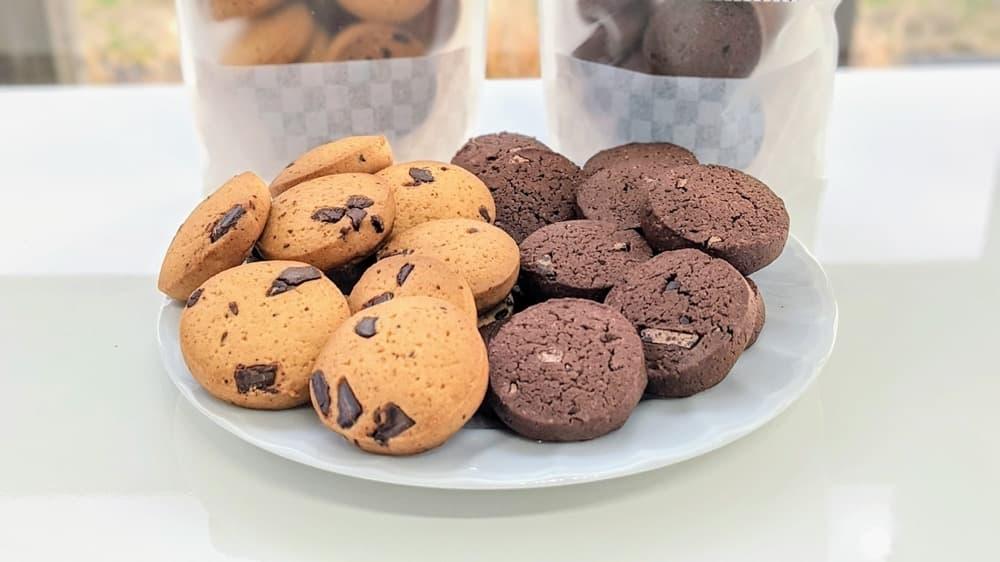 100セット限定商品:バレンタインクッキーセット(プレーンチョコチップ・ココアチョコチップ)【卵・乳アレルギー対応】